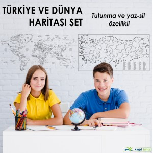 SET OF TURKEY AND WORLD MAP